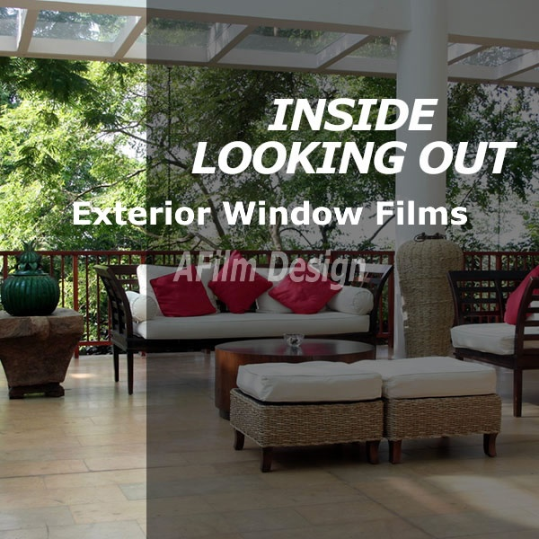 Exterior window tinting film