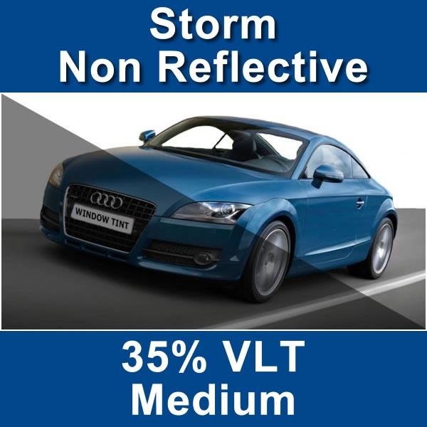 Non reflective auto window film