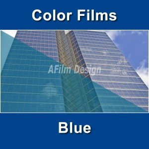 Blue window tinting film