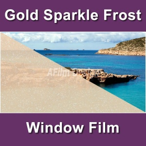 Gold sparkle frost window tinting film
