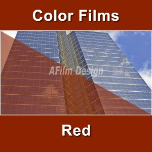 Red window tinting film