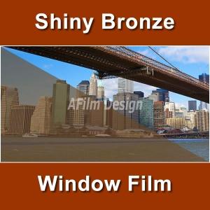Shiny Bronze window tinting film