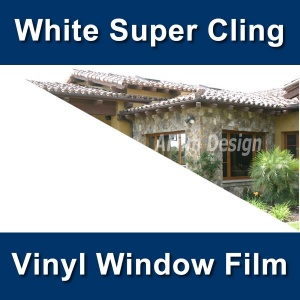 Whiteout super cling vinyl window tinting film